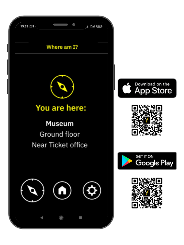 Evelity interior guidance application for museums