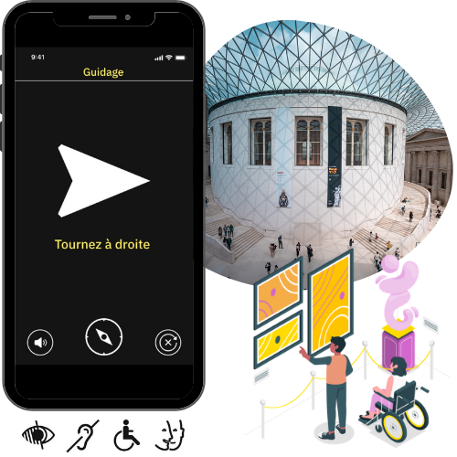 Solution de guidage intérieur Evelity pour tous les handicaps pour les musées-1